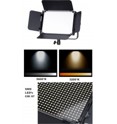 LEDP120PRODMX - Eclairage LED de studio Video & Photo 120W + 120W Bi-Couleur, DMX-512, Support de bat. V-Mount, DC 13V-19V