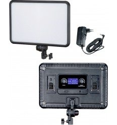 LEDP-30 - Eclairage LED de studio Video & Photo 30W + 30W Bi-Couleur, Support de batteries 2x NP-F750/960, DC 13V-17V