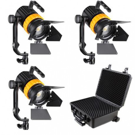Falcon Eyes Bi-Color Mini LED Fresnel Kit P-5AD-K3